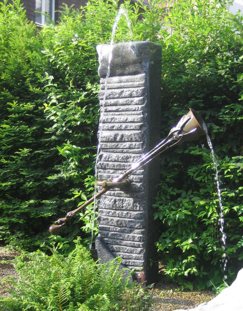 Stein brunnen steinmetz herbert baldauf immenstadt allg u for Idee gartenbrunnen